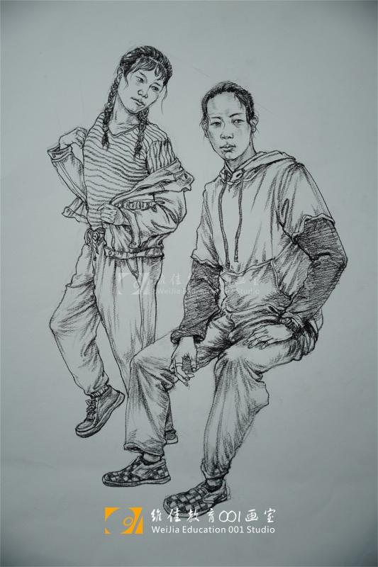 武汉画室|速写作品